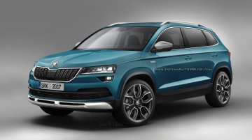 Skoda Karoq Scout rendered, likely to go on sale next year