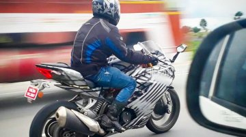 Updated TVS Akula 310 (TVS Apache RR 310S) spotted on test