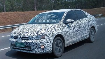 VW Virtus (2018 VW Polo Sedan) spied testing in Brazil