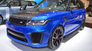 2018 Range Rover Sport SVR showcased at the 2017 Dubai Motor Show