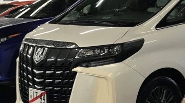 2018 Toyota Alphard facelift spied in Japan