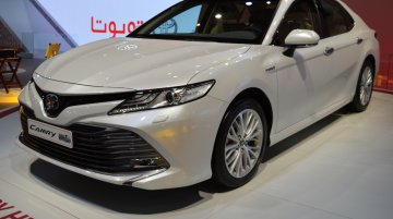 2018 Toyota Camry Hybrid showcased at the 2017 Dubai Motor Show