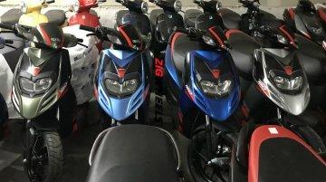 Aprilia SR 150 new colour variants spotted at a dealership