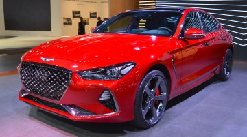 Genesis G70 with Sport Package showcased at the 2017 Dubai Motor Show
