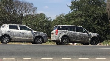 2018 Mahindra XUV500 (facelift) spotted testing for the first time