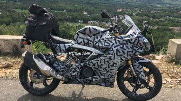 TVS Apache RR 310S spied with touring accessories