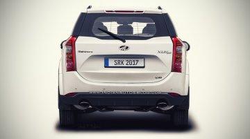 2018 Mahindra XUV500 (facelift) rear rendered