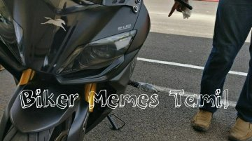 TVS Apache RR 310 spied at Madras Motor Race Track