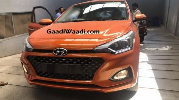 2018 Hyundai i20 in new Flame Orange colour spied