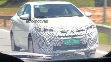 India-bound Toyota Vios (Toyota Yaris Sedan) spied in Brazil