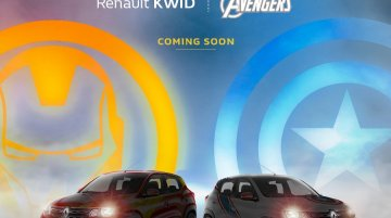 Renault Kwid Marvel Avengers edition teased in India