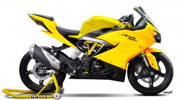 TVS Apache RR 310 rendered in multiple colours
