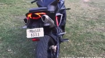 TVS Apache RR 310 with custom dual under-seat exhaust [Video]