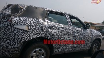 Production Tata H5X shows its side profile in new spy shots