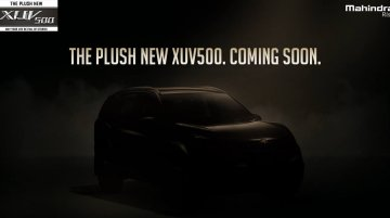 2018 Mahindra XUV500 (facelift) teased ahead of tomorrow's launch