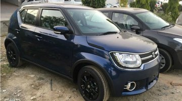 Maruti Ignis in the 'Nexa Blue' colour spotted