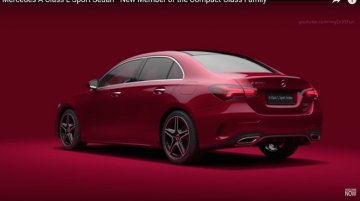 Chinese-spec Mercedes A-Class Sedan revealed [Video Update]