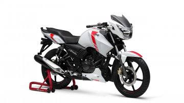 TVS Apache RTR 160 2V White Race Edition launched