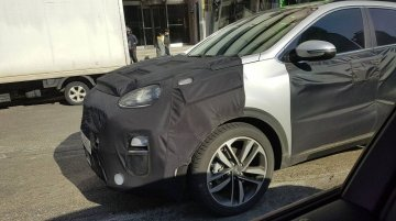 2019 Kia Sportage (facelift) spied on South Korean roads again
