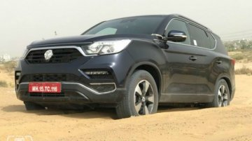 G4 SsangYong Rexton (Mahindra Rexton) spied undergoing offroad testing in India
