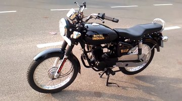 100 cc Royal Enfield Bullet imitation [Video]