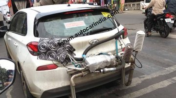 Hyundai i30 spotted in Pune fitted with emission test equipment