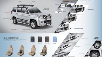 Official accessories for the Mahindra TUV300 Plus revealed