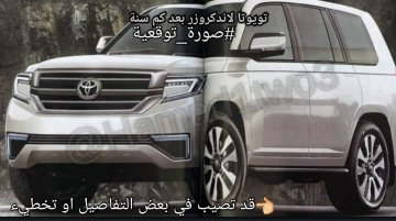 2020 Toyota Land Cruiser rendered by a Japanese magazine