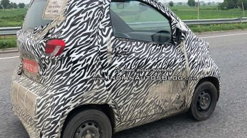 Baojun E100 EV spied up-close in India