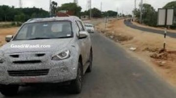 New Isuzu MU-X (facelift) spotted in India for the first time