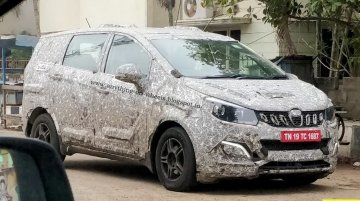 Mahindra U321 (Toyota Innova rival) spotted with the lightest camo yet [Update]