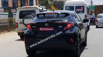 Toyota C-HR spied testing in India for the first time
