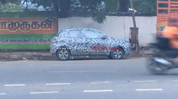 2018 Datsun Go (facelift) with alloy wheels spied in India