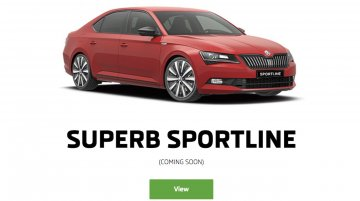 """Skoda Superb Sportline listed in India, """"coming soon"""""""