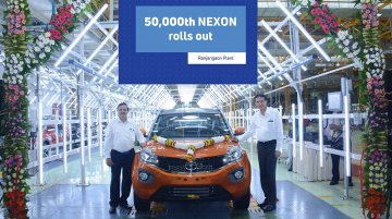 Tata Motors rolls out 50,000th Nexon SUV at its Ranjangaon plant