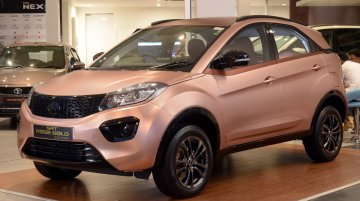 Tata Nexon 'Rose Gold' Edition showcased at Coimbatore dealership