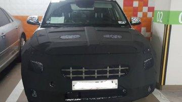 Hyundai QXi (Tata Nexon adversary) spotted in a parking lot