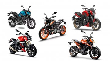 Top 5 naked 'sport' bikes between INR 1 lakh & 2 lakh - IAB Picks
