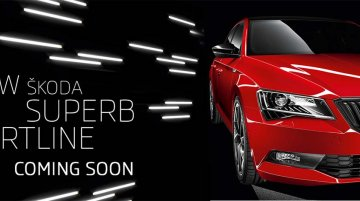 Skoda Superb Sportline teased, likely to launch next month