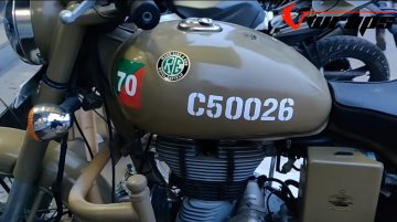 Royal Enfield Classic 500 Desert Storm 'stickered' into a Pegasus edition [Video]