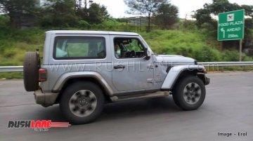 Jeep Wrangler JL 2-door & 4-door spied testing in India
