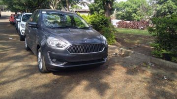 2018 Ford Aspire spotted in the 'Smoke Grey' colour [Video]