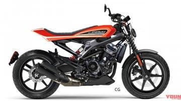 Digital render of entry level Harley-Davidson motorcycle for Asia