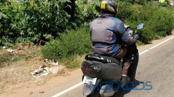 Heavily camouflaged test mule of 2019 TVS Wego 110 spotted
