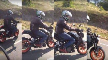 Mysterious KTM Duke motorcycle spied near Pune [Video]