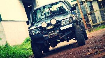 Modified Tata Sierra from Kerala looks off road-ready