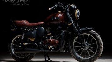 Custom Royal Enfield Thunderbird a.k.a. Davy Jones will steal your heart