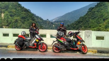 Two women riders on Aprilia SR 150 & SR 150 Race cover 1,701 km in record time