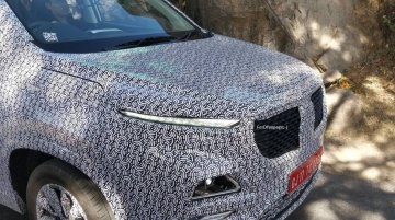 MG India's first SUV with production elements spotted up close