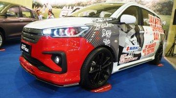 Custom Suzuki Ertiga displayed at Indonesia Modification Expo 2018